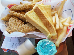 Dairy Queen Chicken Strips (mooshee85) Tags: ranch food chicken dinner french lunch restaurant washington basket state toast fast dressing queen fries strip meal wa dairy poulsbo buttery