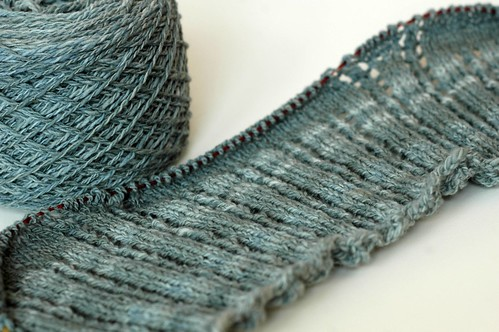 Seafoam yarn becomes...