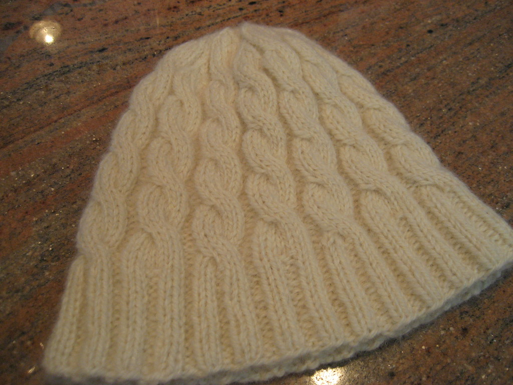 Cabled Baby Hat 4