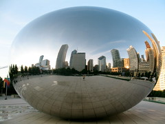 Cloud Gate 61 (TVGuy) Tags: chicago reflection art illinois millenniumpark cloudgate