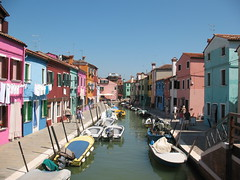 Burano Houses (Squirrel C) Tags: houses canal multicoloured burano