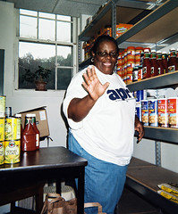 (Picture) Mary Montford, NC APRI, volunteers at Food Bank
