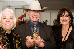 Maj and Larry Hagman, Linda Gray
