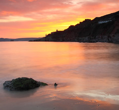 The burning sky (@Gking_photo) Tags: sunset sea beach water rock coast 24105mmf4l seaside sand devon squareformat westcountry bovisand canon50d