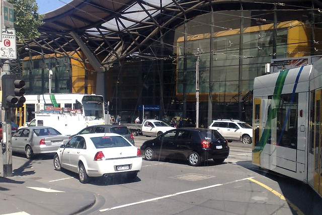 POTD: Who keeps cars off the tram lanes?