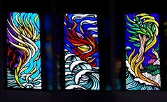 Days of Creation 1 to 3 (Aidan McRae Thomson) Tags: windows church glass rugby contemporary stainedglass stained bilton sacredheart aidanmcraethomson
