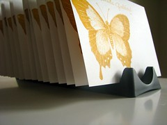drying (tutti fruiti) Tags: butterfly gocco notecards personalised