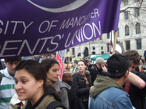 Manchester University SU at the Protest
