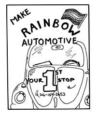 Robin's ad for Rainbow Automotive
