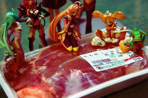 鶏ムネ肉 with セクシーフィギュア