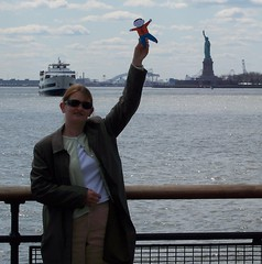 Flat Stanley at the Statue of Liberty