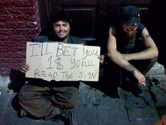 Homeless Guy on 6th St. in Austin, TX