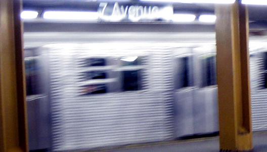 Seventh Avenue Station Bright Blurred