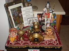 Siva and Friends (LostDevotee) Tags: india altar devotee krishna siva lingam deity guru harekrsna scsmath