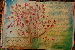 Magnolia painting in my art journal