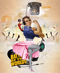22 (collage digital) (Javier Piragauta) Tags: new art up robin collage digital vintage 22 design flyer colombia pin arte telephone retro burro worlds javier telefono diseo pinup afiche battel lautrec tolouse piragauta