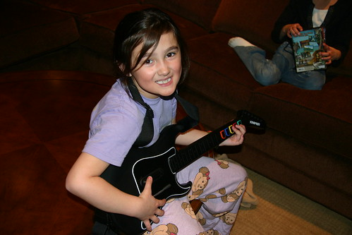 Cody playing Guitar Hero