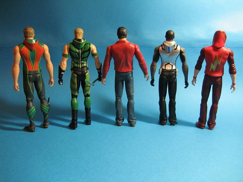Smallville Clark Kent, Green Arrow, Aquaman, Cyborg, Impulse