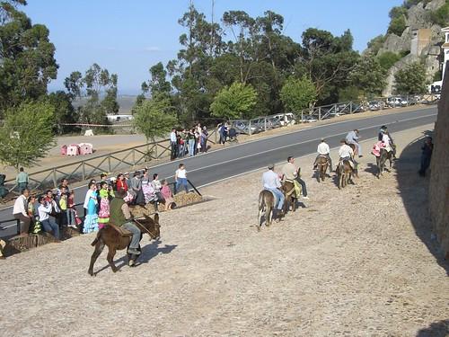 Camino a la ermita en burro
