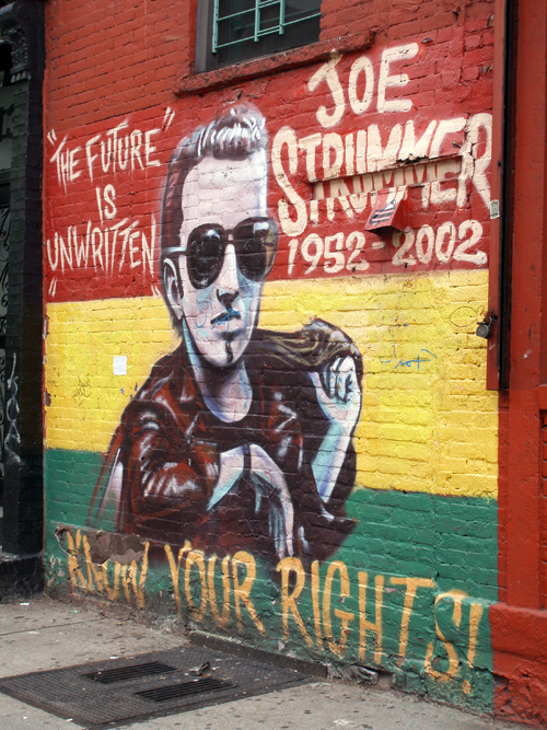 Joe Strummer tribute mural, Manhattan, NYC