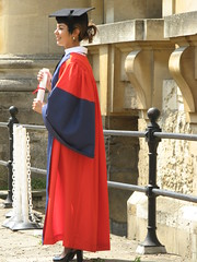 Graduate at Bodleian Library courtyard (Normann) Tags: university library oxford graduate gown bodleianlibrary