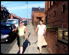 Passing By Milan Road (James W Bell (Good Honest Iago) - Leeds) Tags: people public leeds streetphotography pedestrians streetphoto unposed staugustines kodakz700 peopleunposedinpublic june2008 milanroad
