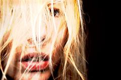 and it breaks my fall (Midnight Marmalade) Tags: light portrait eye face hair lips hidden