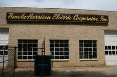 panola-harrison electric cooperative, inc. neon sign