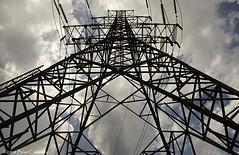 Giant (-- brian cameron --) Tags: sky toronto clouds 350d steel towers hydro electricity etobicoke pylons transmissiontowers hydrotowers pixelizeblogspotcom embryonicrobotwordpresscom