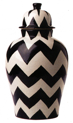 chevron urn