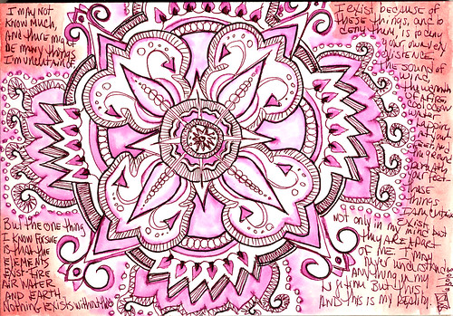 063008 And this is my Reality. Elemental Mandala Doodle