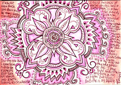 "063008 And this is my Reality. Elemental Mandala Doodle (Stephanie ""Biffybeans"" Smith) Tags: mist black hot water fountain pen ink watercolor paper private fire sketch paint box earth burgundy air fine reserve mandala brush bijou safari doodle elements hippie pitt press nib newton fabriano winsor castell elemental faber niji lamay arist nibbed"