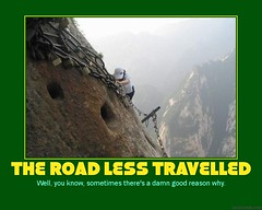 d the road less (dmixo6) Tags: new travel mountain danger funny motivator risk fear humour structure climbing gravity despair motivation parody demotivator leadership demotivation heirarchy dugg climbimg mountaneering dmixo6