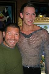 FancyDancer (danimaniacs) Tags: cruise smile pecs silver mexico costume nipple chest dancer seethrough mexicanriviera