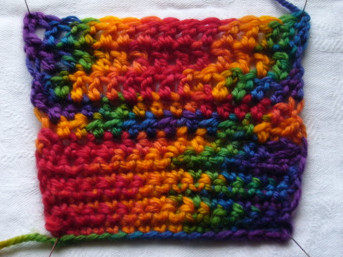 Rainbow Crochet Swatch