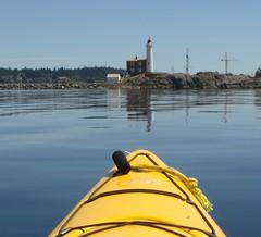 Kayak's eye view of Fisgard Lighthouse
