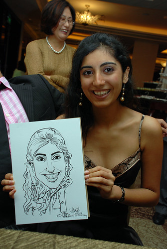 caricature live sketching for wedding dinner 120708  - 72