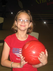 Meg ready to bowl