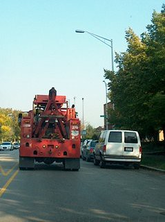 Eastbound CTA wrecker truck.Chicago Illinois. October 2006 by Eddie from Chicago