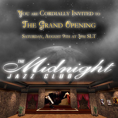 The Midnight Jazz Club Grand Opening Invite