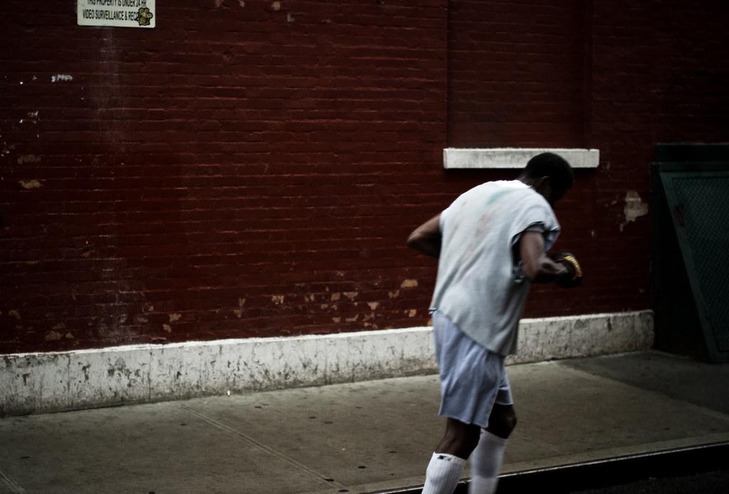 running up doyers street