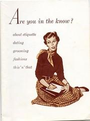 The best find of the day. (sparkleneely) Tags: vintage etiquette ephemera teen growingup menstruation estatesale august2008