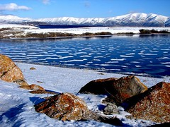 Sevan Lake from Armenia (Alexanyan) Tags: winter mountain lake snow cold tourism ice mount armenia touristic armenian snowly sevan caucas caucasia hayastan
