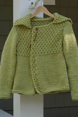 lizs chunky green sweater 001