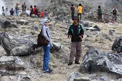 Hidayah at Kawah Domas (Domas Crater) in Tangkuban Perahu, Bandung , Indonesia.