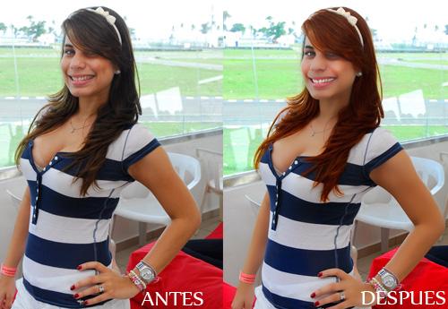 antes y despues CHICA AUTO