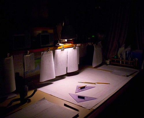 Chart Table at night