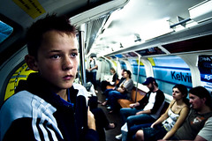 Ross (TGKW) Tags: boy portrait people public train underground ross kid child glasgow transport tube teenager kelvinbridge