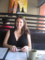 Sarah at Tsunami Sushi