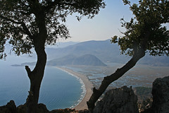 View over Turtle Beach Dalyan